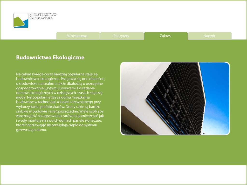 Oprogramowanie infokiosków - Ministerstwo Gospodarki, prezentacja multimedialna